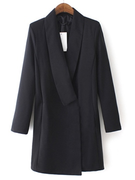 Ericdress Plain Notched Lapel Straight Casual Dress