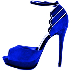 Ericdress Special Royal Blue Suede Peep Toe Stiletto Sandals