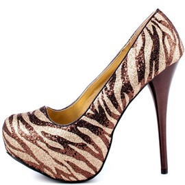Ericdress Golden Zebra High Heel Pumps