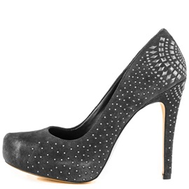 Ericdress Gray Rivets Decorated Pumps