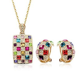 Ericdress Temperament Crystal Jewelry Set