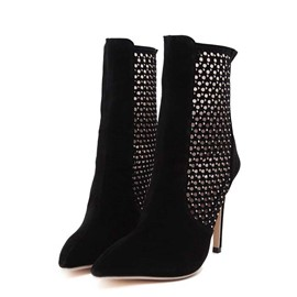 Ericdress Sexy Hollow Out Point Toe High Heel Boots