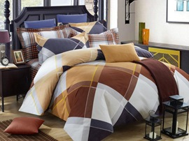 Ericdress Twilight Plaid 4-Piece Cotton Bedding Sets
