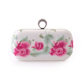 Ericdress Peony Embroidery Clutch