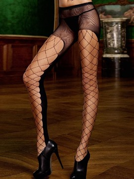 Ericdress High Waist Cross Net Hollow Sexy Pantyhose