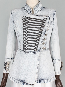 Ericdress Royal Vintage Style Stand Collar Jacket