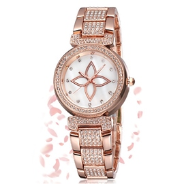 Ericdress Pearl Dial Diamond Ladies Watch