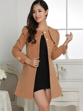 Ericdress Elegant Single-Breated Coat