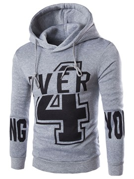 Ericdress Printed Pullover Thicken Men's Hoodie