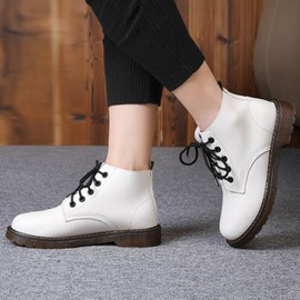 Ericdress Pu Lace up Martin Boots