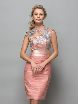 Ericdress Sheath Cap Sleeves Sequins Pleats Cocktail Dress