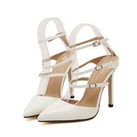 Ericdress Chic Pu Point Toe Stiletto Sandals