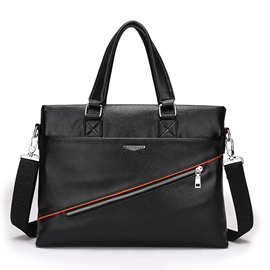 Ericdress Zipper Decorated Men's Business Handbag