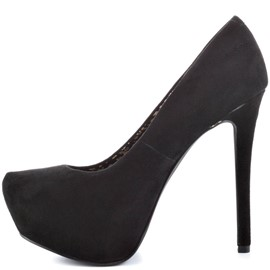 Ericdress Black Suede High Heel Pumps