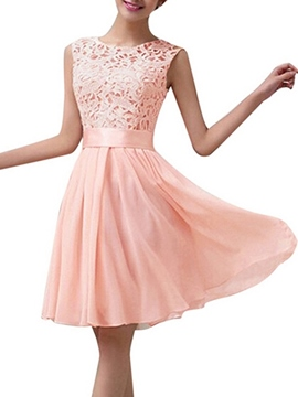 Ericdress Classical Lace Knee Length Bridesmaid Dress