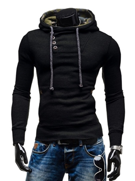 Ericdress PlainThicken Pullover Men's Hoodie