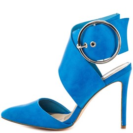 Ericdress Blue Point Toe Stiletto Sandals with Buckles