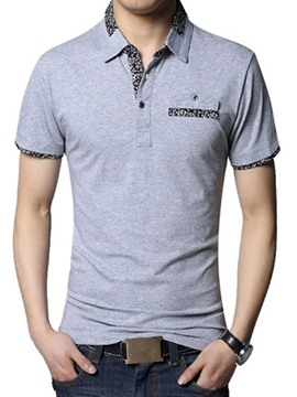 Ericdress Short Sleeve Lapel Men's T-Shirt