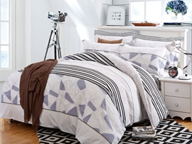 Ericdress Irregular Geometric Pattern Cotton Bedding Sets