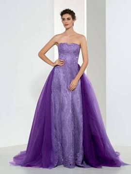 Ericdress A-Line Mermaid Beading Lace Evening Dress