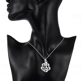 Ericdress Rose Pendant Creative Necklace