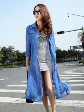 Ericdress Long Style Sunscreen Outerwear