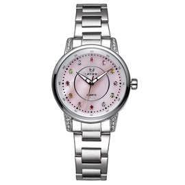 Ericdress Colorful Diamond Dial Steel Belt Watch