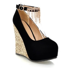 Ericdress Tassels Decorated Ankle Strap Wedges
