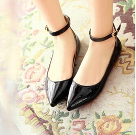 Ericdress Pu Point Toe Flats