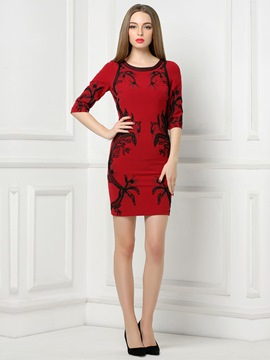 Ericdress Sheath Half Sleeves Little Party Dress