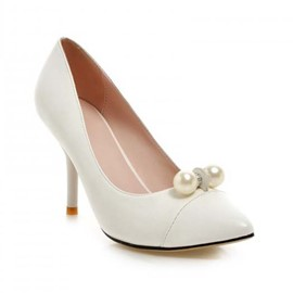 Ericdress Point Toe Pumps with Pearl