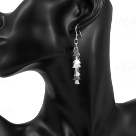 Ericdress Silver Plated Snowflake Shape Earrings