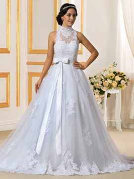 Ericdress Fancy High Neck Detachable Wedding Dress