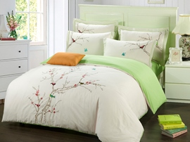 Ericdress Birds Embroidery Cotton Bedding Sets