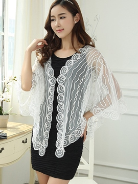 Ericdress Elegant Lace Sunscreen Cape