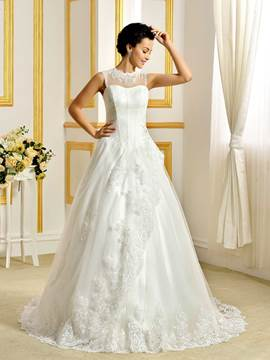 Ericdress Beautiful Lace A Line Wedding Dress