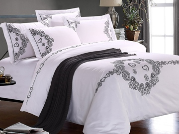 Ericdress Embroidery 4-Piece Cotton Bedding Sets