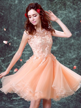 Ericdress Cap Sleeves Knee-Length Lace Cocktail Dress