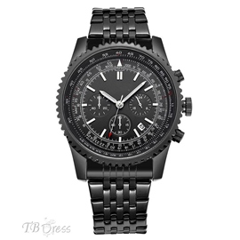 Ericdress Stainless Steel Chronograph Watch For Men