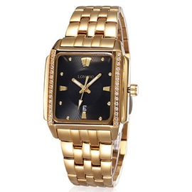 Ericdress Diamante Square Scale Quartz Watch For Men