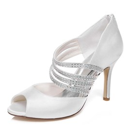 Ericdress Rhinestone Peep Toe Wedding Shoes