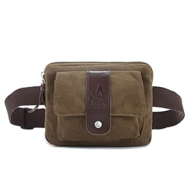 Ericdress Vintage Canvas Men's Waist Bag