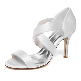 Ericdress Satin Cross Strappy Wedding Shoes