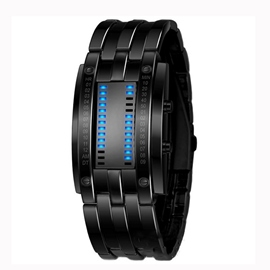Ericdress Cool Wolfram Steel Binary LED Men's Watch
