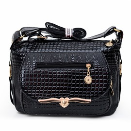 Ericdress Classic Alligator Pattern Crossbody Bag