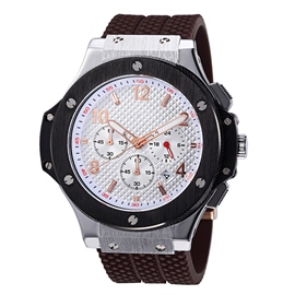 Ericdress Men's Synchronous Time Silicone Watch