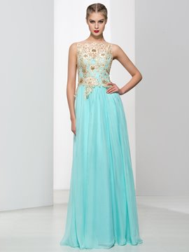 Ericdress Bateau Neck Lace Beading Hollow Long Prom Dress