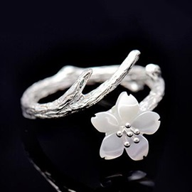Ericdress Temperament Sakura Open Ring