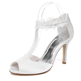 Ericdress Lace T Strap Wedding Shoes