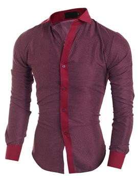 Ericdress Slim Long Sleeve Casual Men's Shirt